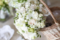 Beautiful white wedding bouquets Stock Photography