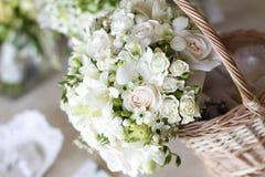 Beautiful white wedding bouquets Stock Photography
