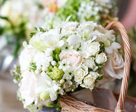 Beautiful white wedding bouquets Royalty Free Stock Photos