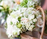Beautiful white wedding bouquets Royalty Free Stock Photos