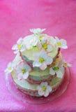 Beautiful white wedding cake Royalty Free Stock Photo
