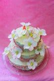 Beautiful white wedding cake Stock Photos