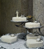 Beautiful white wedding cake Royalty Free Stock Photography