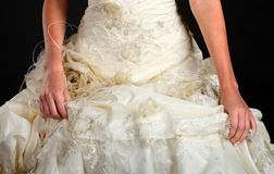 Beautiful white wedding dress Royalty Free Stock Images