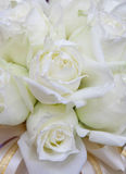Beautiful white wedding flowers bouquet Royalty Free Stock Photo