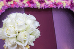 Beautiful white wedding flowers bouquet Royalty Free Stock Image