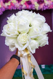 Beautiful white wedding flowers bouquet Royalty Free Stock Images