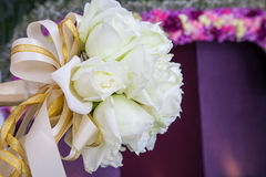 Beautiful white wedding flowers bouquet Royalty Free Stock Photography