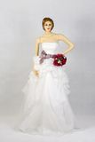 Beautiful White Wedding Gown Royalty Free Stock Images