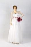 Beautiful White Wedding Gown Stock Photo