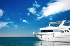 Beautiful white yacht Royalty Free Stock Photo