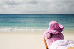 Beautiful Whitehaven Beach royalty free stock photography