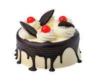 Beautiful whole Cake isolated on white Royalty Free Stock Photography