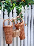 Beautiful Wicker Baskets Royalty Free Stock Photo