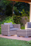 Beautiful wicker furnitures Stock Photography