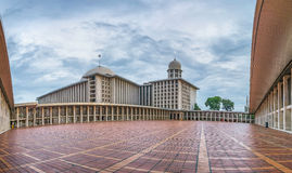 Beautiful  wide angle view of Istiqlal Mosque Stock Photos