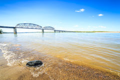 Beautiful, wide Missouri River Royalty Free Stock Image