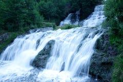 Beautiful wide waterfall Stock Image