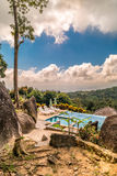 Beautiful wiev of swimming pool from mountains Stock Photos