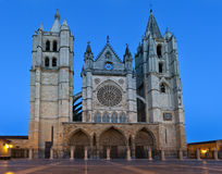 Cathedral of Leon (Spain) Stock Images