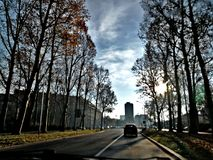 BEAUTIFUL WIEW ON THE MY CITY. This photo was taken today morning Royalty Free Stock Image