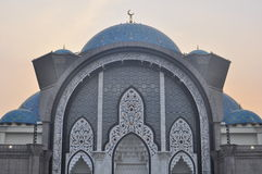 The beautiful Wilayah mosque at twillight Royalty Free Stock Photography