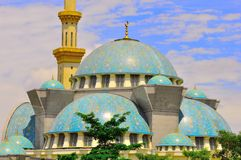 The beautiful Wilayah Persekutuan  mosque Stock Image