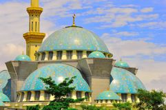 The beautiful Wilayah Persekutuan  mosque Royalty Free Stock Image