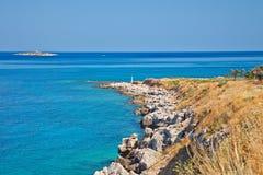 Beautiful wild beach. Poros, Greece Stock Photography