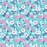 Beautiful wild bluebell flowers seamless pattern 2 Stock Photography