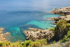 Beautiful wild coast Stock Images