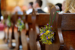 Beautiful wild flowers wedding decoration stock image