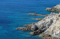 A beautiful wild and rocky coastline in Corsica Stock Photo