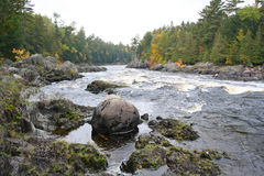 Beautiful wild scenic river Stock Photos
