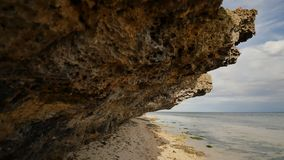 Beautiful wild tropical beach near Anda with granite rocks. Bohol Island. Philippines. Beautiful wild tropical beach near Anda with granite rocks. Bohol Island stock footage