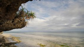 Beautiful wild tropical beach near Anda with granite rocks. Bohol Island. Philippines. Beautiful wild tropical beach near Anda with granite rocks. Bohol Island stock footage