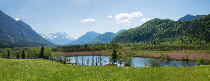Beautiful wilderness loisach valley Royalty Free Stock Photography