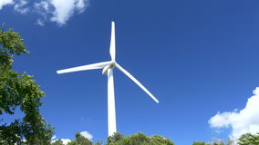 Beautiful Wind Turbines Generating Electricity with blue sky background in Thailand. Ultra-HD 4K High quality footage size (3840x2160 stock footage