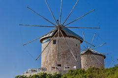 Beautiful Windmill. Beautiful Summer in Izmir ,Turkey Royalty Free Stock Image