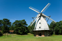 Beautiful windmill. At Ventspils, Latvia Stock Images