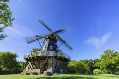 Beautiful windmill and blue sky. Saw at Malmo, Sweden Stock Photography