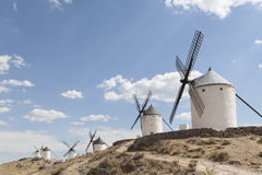 Beautiful windmill in Consuegra, Toledo, Spain Stock Photography