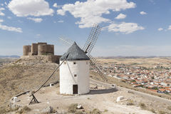 Beautiful windmill in Consuegra, Toledo, Spain Royalty Free Stock Photo