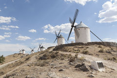 Beautiful windmill in Consuegra, Toledo, Spain Stock Image