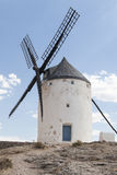 Beautiful windmill in Consuegra, Toledo, Spain Royalty Free Stock Photos