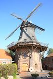 Historic and beautiful windmill in Jever, Friesland, Lower Saxony, Germany. Beautiful windmill in Jever, Friesland, Lower Saxony, Germany, great mill in the city Stock Photo