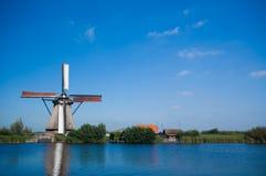 Beautiful windmill landscape Stock Photos