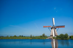 Beautiful windmill landscape Royalty Free Stock Photo
