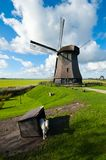 Beautiful windmill landscape in the Netherlands. Schermerhorn, Schermer, Noord-Holland Royalty Free Stock Photography