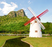 Beautiful windmill  in Thailand Stock Image